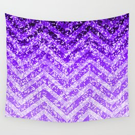 Zig Zag Sparkley Texture G229 Wall Tapestry