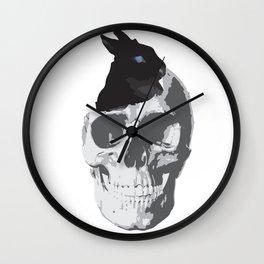 Bunny's new home Wall Clock