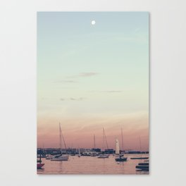 Sailing on the Boston Harbor Canvas Print