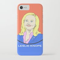 parks and recreation iPhone & iPod Cases featuring Leslie Knope (Parks & Recreation) by Pan and Scan