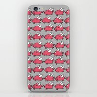 pigs iPhone & iPod Skins featuring Flying Pigs by Adrian Roman