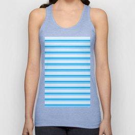 Blue Stripes Unisex Tank Top
