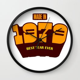 Made In 1979 Wall Clock