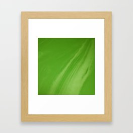 Blurred Emerald Green Wave Trajectory Framed Art Print