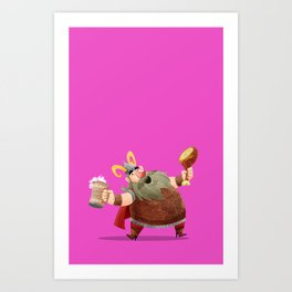 Eat and Drink Art Print