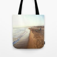 santa monica Tote Bags featuring Santa Monica by Kelli Anne