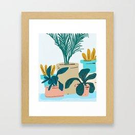 Little Plants #illustration #nature Framed Art Print