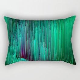 Lit from Below - Abstract Glitch Pixel Art Rectangular Pillow
