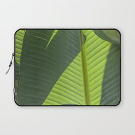 Green Tropical Leaves: Sunlight and Shadows Laptop Sleeve