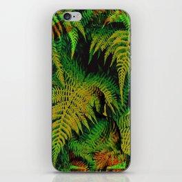 Camouflage Hidden Buddha in Ferns iPhone Skin