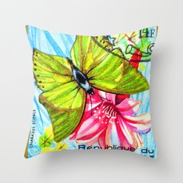 Butterfly Charaxes Eupale Throw Pillow