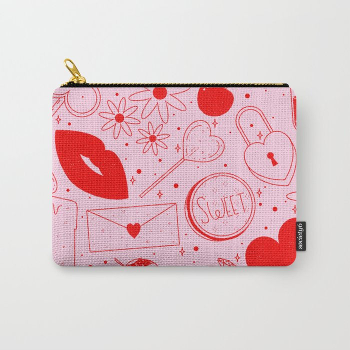 Be My Valentine Carry All Pouch by Society6