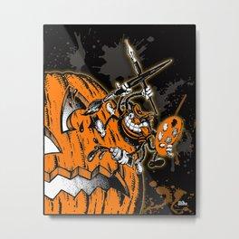 Halloween Pumpkin & Spider Artist Hepcat Metal Print
