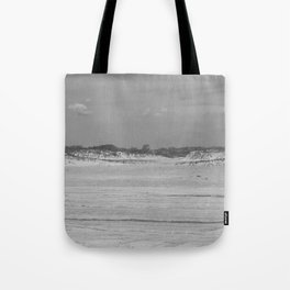 Dunes of Assateague Island (black and white) Tote Bag