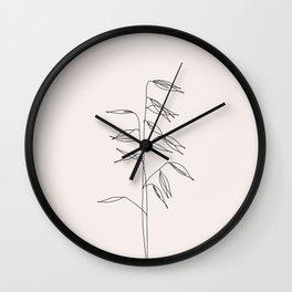 Japanese style plant illustration - Olivia I Wall Clock