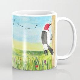 "Red Headed Woodpecker Morse Code - ""Fuck Off"" Coffee Mug"
