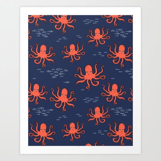 Octopus by Andrea Lauren Art Print