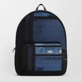 City Buildings on a Rainy Day Backpack