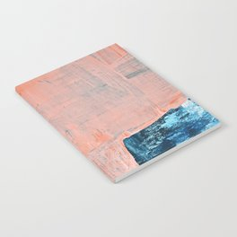 Delight [3]: a vibrant minimal abstract painting in blue and coral by Alyssa Hamilton Art Notebook