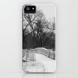 Winter Solitude - St. Louis Snowy Bridge iPhone Case