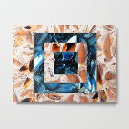 Mussel Collage Metal Print