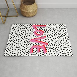 Love Polka Dot Rug