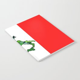 Map of Italy and Italian Flag Notebook