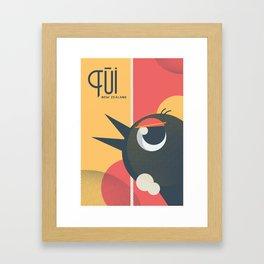 Tui Bird New Zealand Framed Art Print