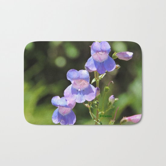 California Native Penstemon Bath Mat