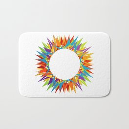 Explosion of Blooming Spring Colors Bath Mat