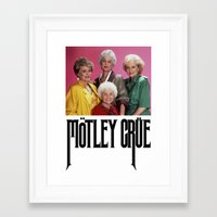 golden girls Framed Art Prints featuring Golden Girls! Girls! Girls! by hellosailortees