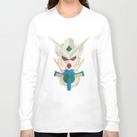 gundam Long Sleeve T-shirts featuring gundam exia flat design by advino
