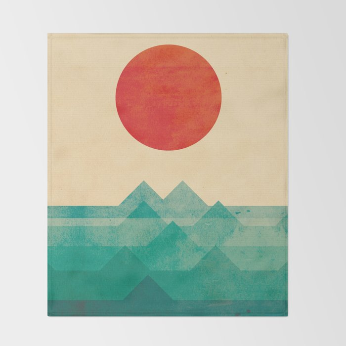 The ocean, the sea, the wave Throw Blanket