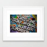 grafitti Framed Art Prints featuring Grafitti by BrandNewMindsPhoto