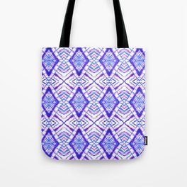 Dye Diamond Iridescent Blue Tote Bag