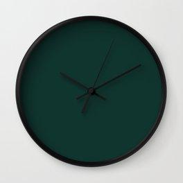 Dark Emerald Green Wall Clock