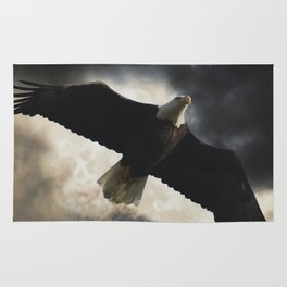 Soaring Eagle in Stormy Skies Rug