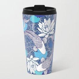 Blue Koi Ripples Travel Mug