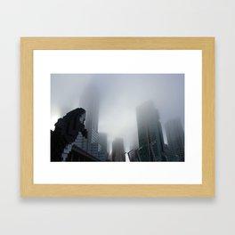 Digital Orca Amidst The Fog Framed Art Print