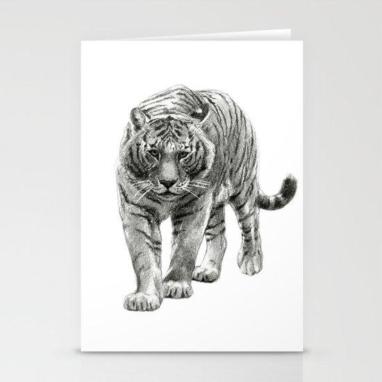 Walking Tigress SK088 Stationery Cards