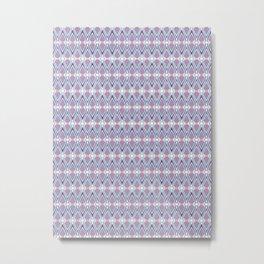 Diamond Tesselation Pattern Metal Print
