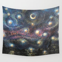 Starry Night 2 of 3 Wall Tapestry