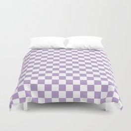 Lavender Checkerboard Pattern Duvet Cover