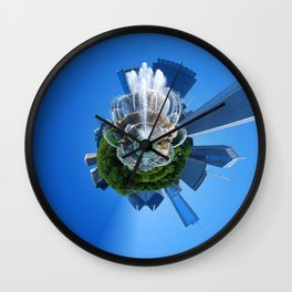 Little Planet of Chicago Wall Clock