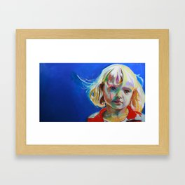 Thoughtful girl. Framed Art Print