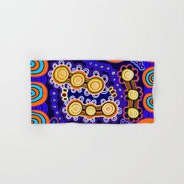 Authentic Aboriginal Art - Yugarabul Gathering Hand & Bath Towel