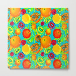 Pop Art Citrus Metal Print