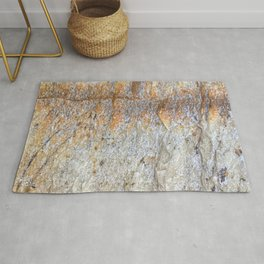 Rocky Rust Divide // Rock Formation Textured Background Accent Decoration Rug