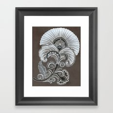 Art Deco Flower Framed Art Print