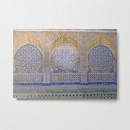 Moroccan Mosaics Metal Print